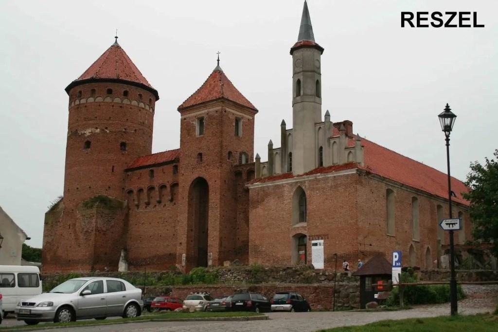 Gotycki zamek i kościół w Reszlu