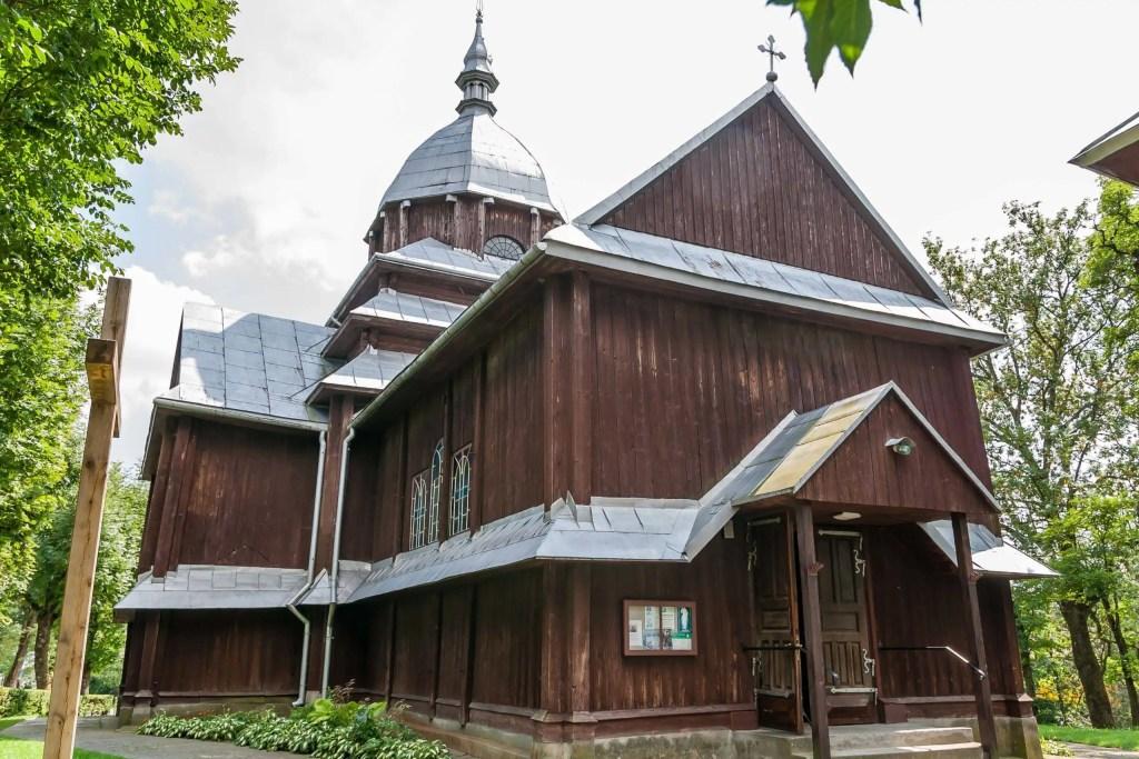 Drewniany kościół w Fredropolu