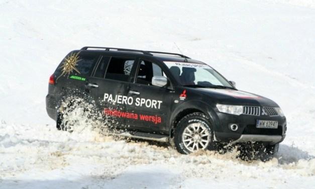 Pajero Sport wjeżdża na szczyt Pilska