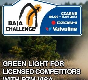 Baja Challenge także dla zawodników z licencją !