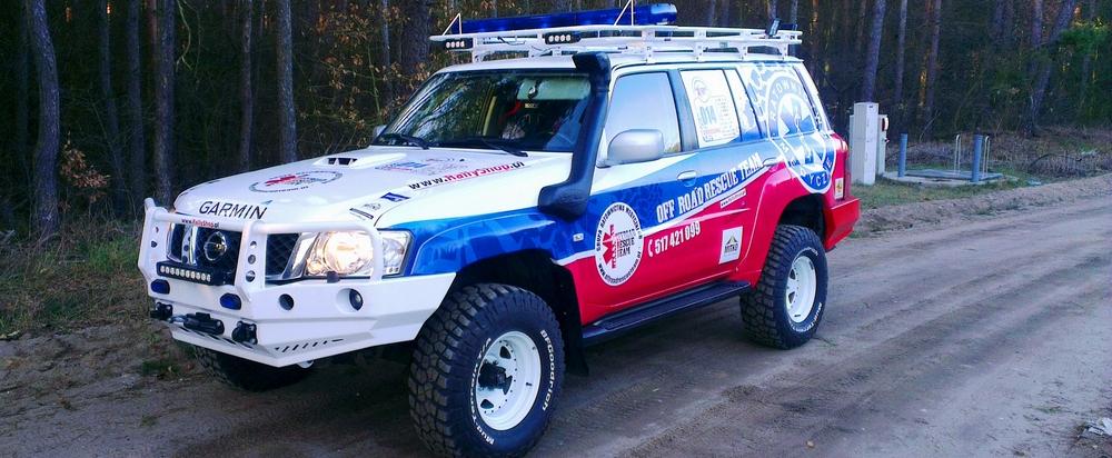Nowy w służbie – czyli Nissan Patrol GU4 – karetka nr 14 Off-Road Rescue Team