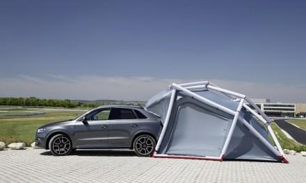 Wyprawowe Audi Q3 czyli namiot w standardzie