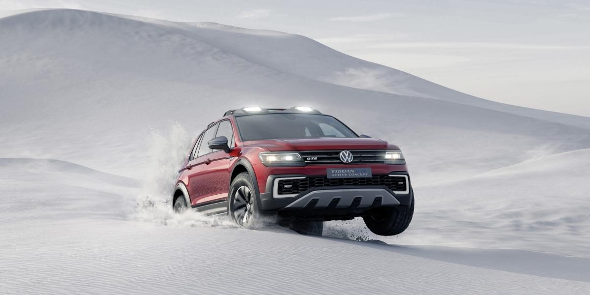 VW Tiguan GTE Active Concept – SUV na MTekach