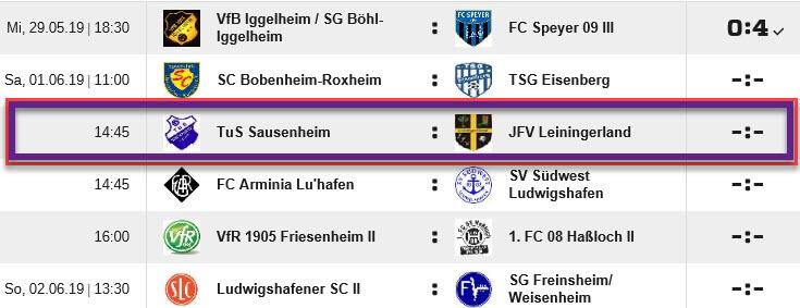 D1 Heimspiel gegen Leiningerland