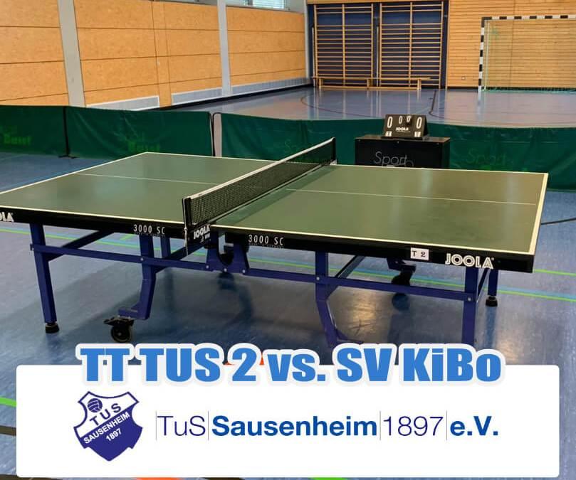 HEUTE 20:00 Uhr Heimspiel 2. Mannschaft Tischtennis