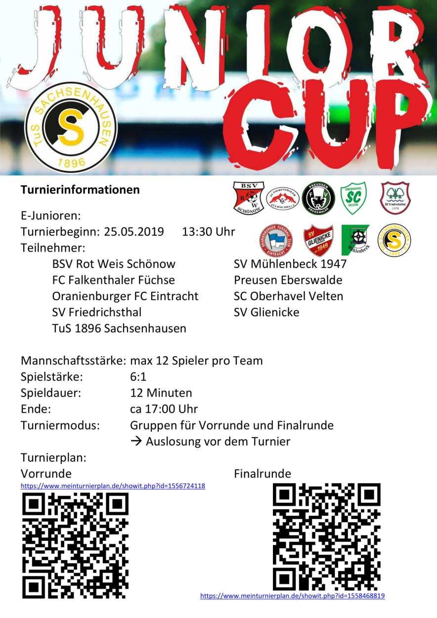 Turnier Informationen E-Junioren-1