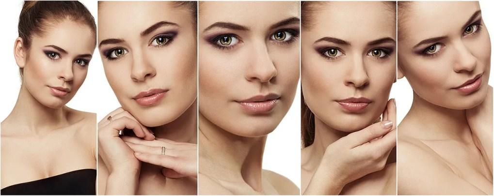 tendencias en maquillaje en una secuencia donde una chica luce en varias posturas