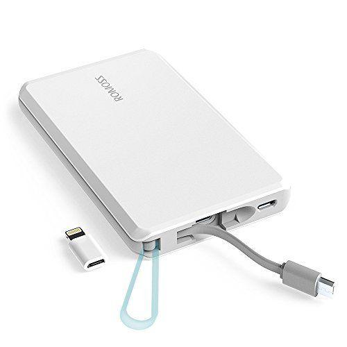 batería externa blanca