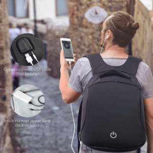 Mochila HOMIEE Antirrobo can Carga USB Unisex Imperme (10)