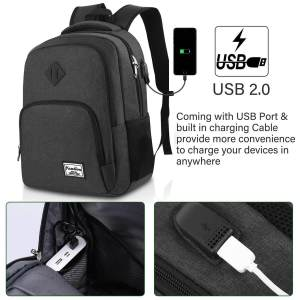 Mochila Escolar YAMTION ▷ con Puerto USB ⚡ Portátil 15.6 pulgadas 1
