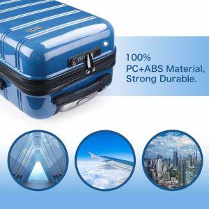 Maleta Cabina Rígida con Puerto USB y Candado TSA - REYLEO 3 color azul para viaje