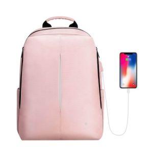 Mochila Inteligente con Puerto de Carga USB - FINPAC Color Rosa