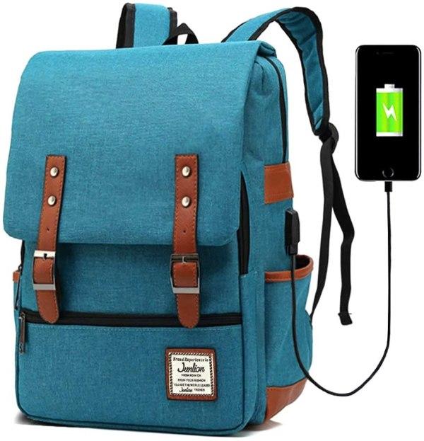 Mochila Escolar para Portátil con USB Unisex JUNLION