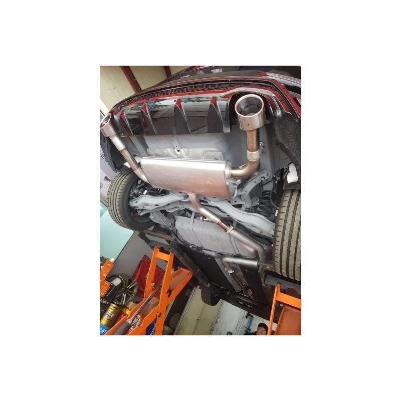 oem variable exhaust valve muffler hyundai veloster n