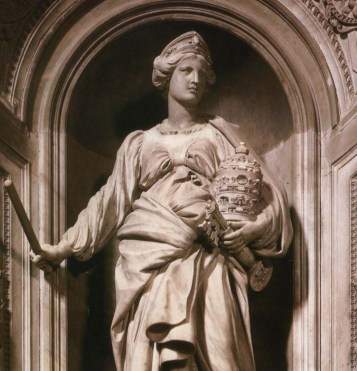 Mathilde of Canossa, seen here in St Peter's Basilica