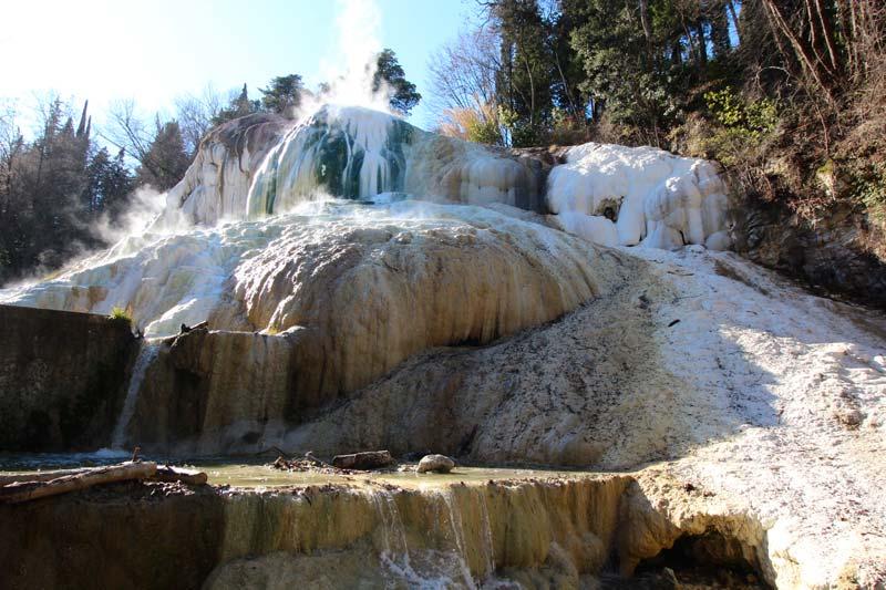 Bagni San Filippo hot springs in Val dOrcia Tuscany  Tuscany Planet