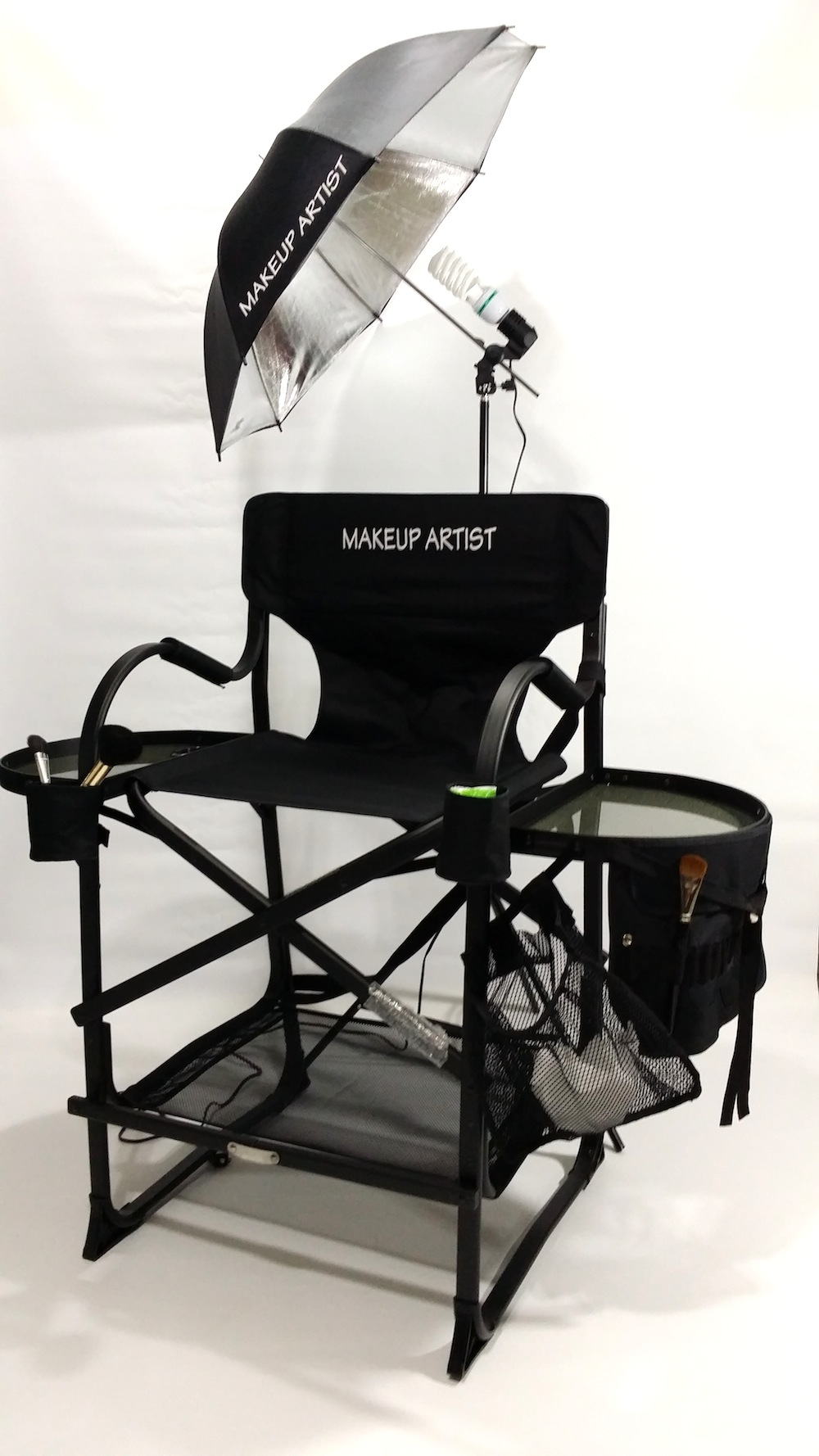 make up chair office clipart as seen on tv the original tuscany pro tall makeup artist portable w light system 29 seat height carry bag included