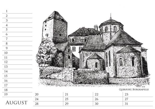 Sachsen-Anhalt Geburtstags Kalender, August