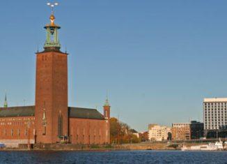 Vista del Ayuntamiento de Estocolmo