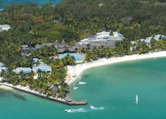 Vista aérea del Hotel Shandrani, en Mauricio