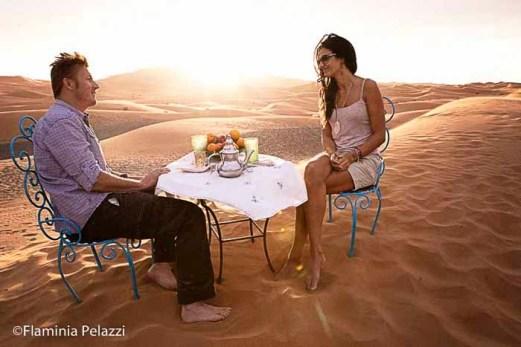 Cena nómada en Erg Chebbi