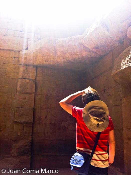 Interior del templo de Philae