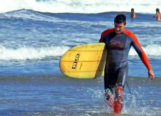 Surf en Punta Rubia, Uruguay