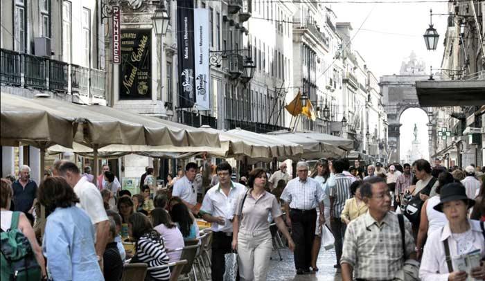 La Baixa es el barrio más céntrico y animado de Lisboa
