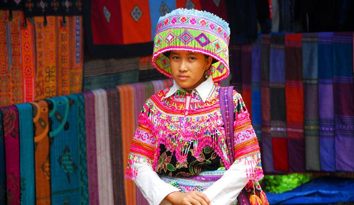 Mercado de la población de Sapa, en el norte de Vietnam