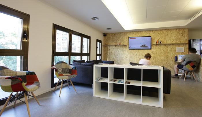 Recepción Dream Cube Hostel
