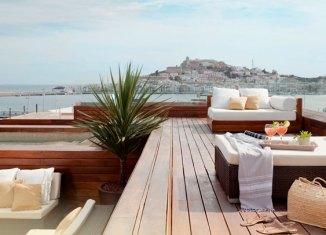Vistas de Dalt de la Vila desde la terraza del Ibiza Grand Hotel