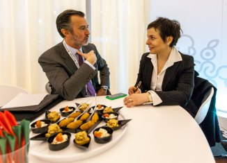 João Cotrim de Figueredo, presidente de Turismo de Portugal, y María Jesús Tomé, editora de www.tusdestinos.net
