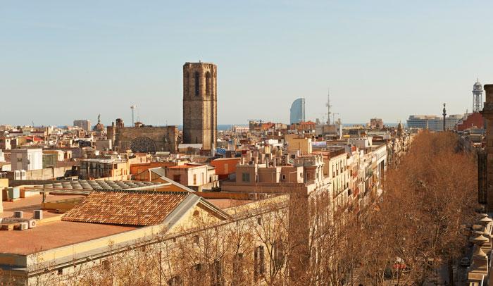 Vistas de Barcelona desde la 360ª Barcelona Suite de Le Méridien Barcelona