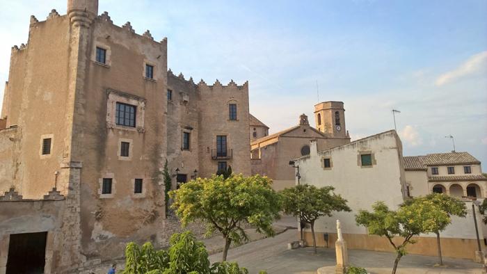 Vistas del casco antiguo de Altafulla desde el Hotel Gran Claustre.