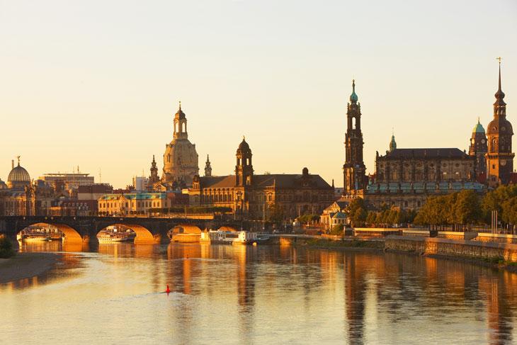 Vista de Dresde desde el río Elba. Foto © Sylvio Dittrich