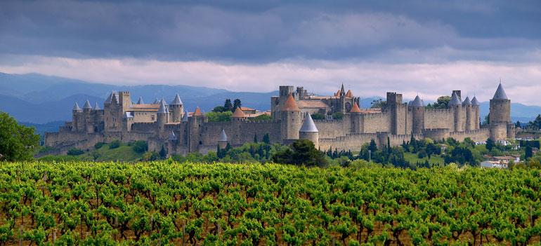 Panorámica de Carcassone. Muros de Carcassonne. Foto Oficina de Turismo de Carcassonne