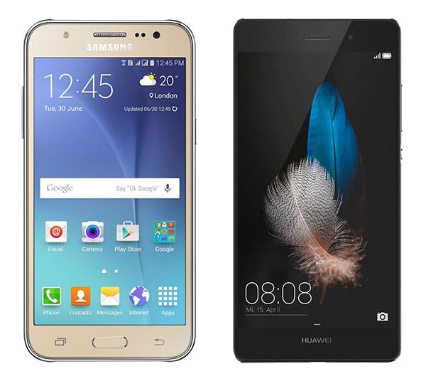 Comparativa Samsung Galaxy J7 2016 Vs Huawei P8 Lite