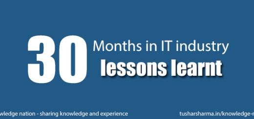 30 months in IT industry 30 lessons learnt