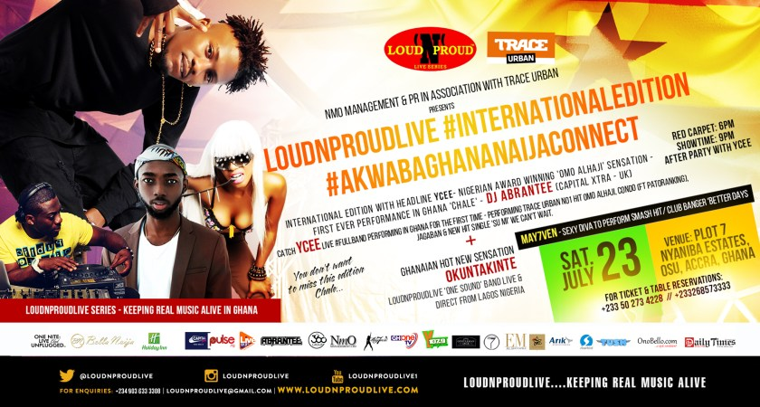 Loud N Proud partners with Trace Urban; moves to Ghana