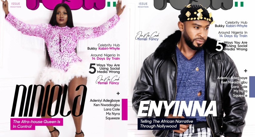 Afro-house Queen, Niniola and Nollywood Eye Candy, Enyinna get celebrated on the cover of our 18th Issue