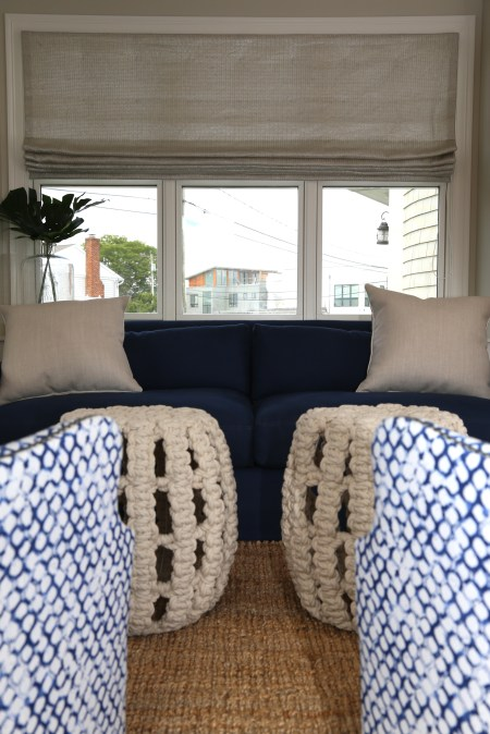Close Up of Sunroom Sofa and Tables
