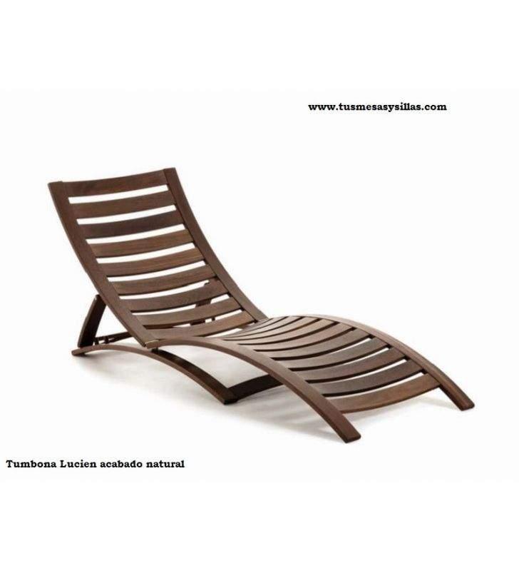 bain de soleil reglable en bois lucien pour piscine terrasse ou jardin
