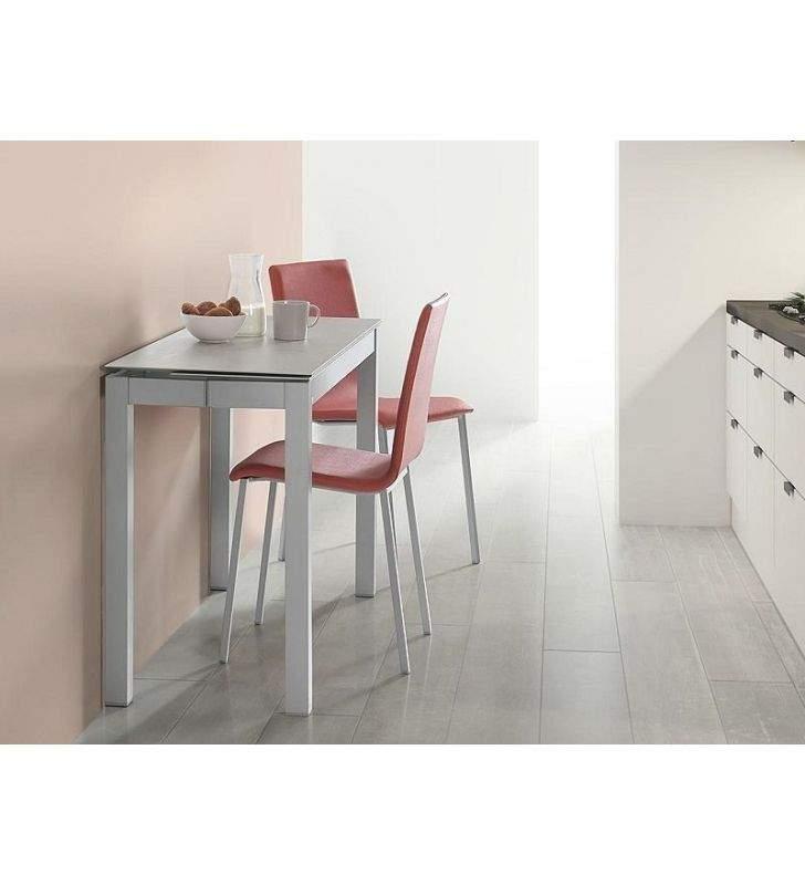 table petite et etroite profondeur 45 cm plateau et extensible en ceramique
