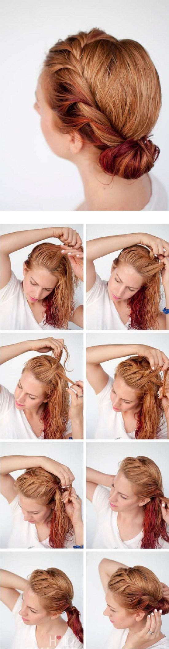 peinado diadema
