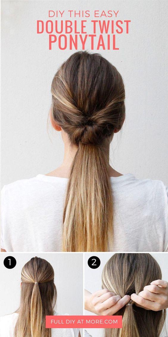 peinados casuales cola de caballo