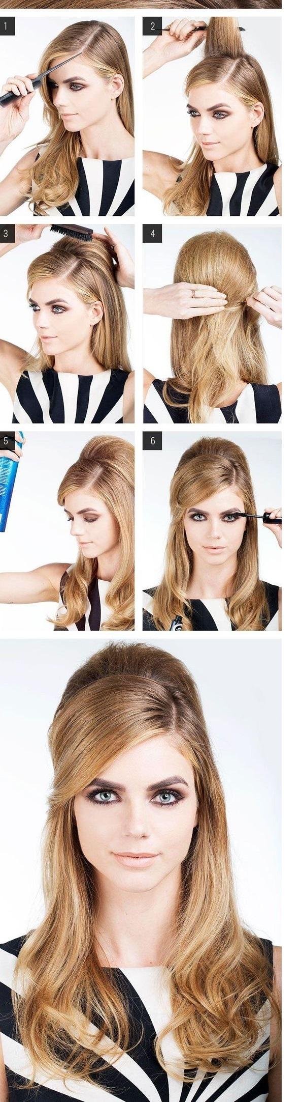 cabello con flequillo