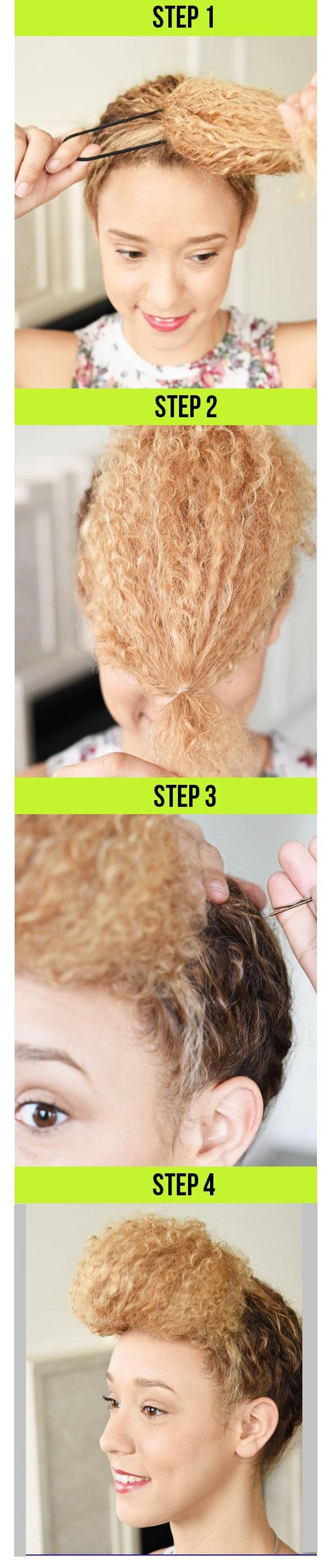cabello rizado peinado
