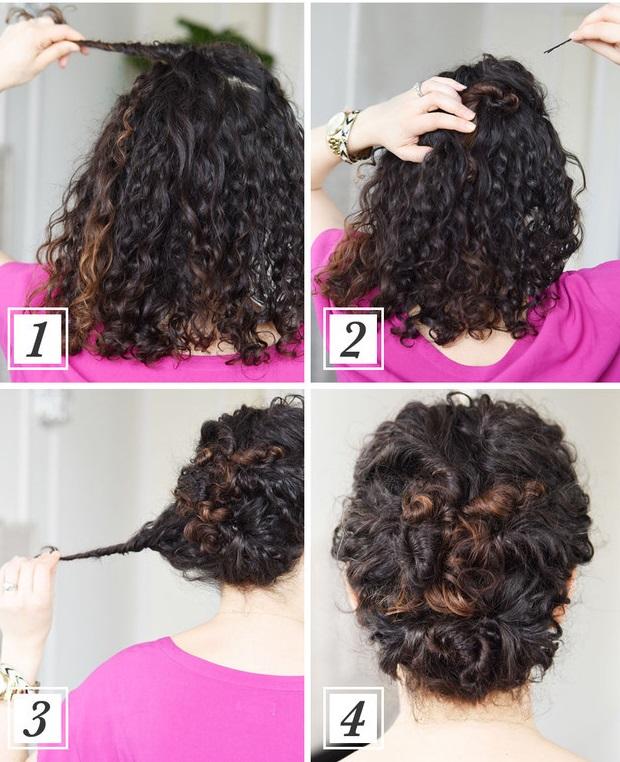 Peinados sencillos para cabello rizado