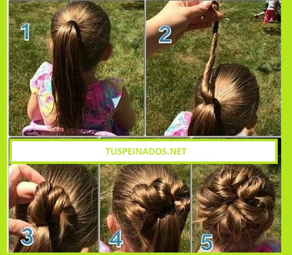 flor peinados de niñas