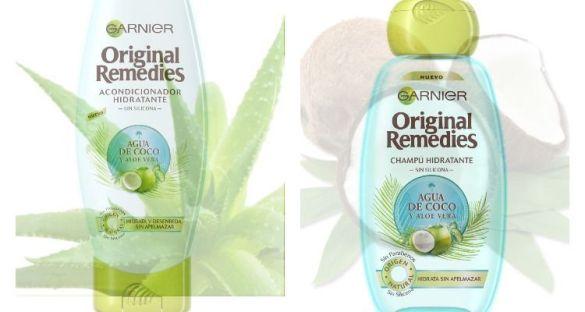agua de coco y aloe vera original remedies garnier